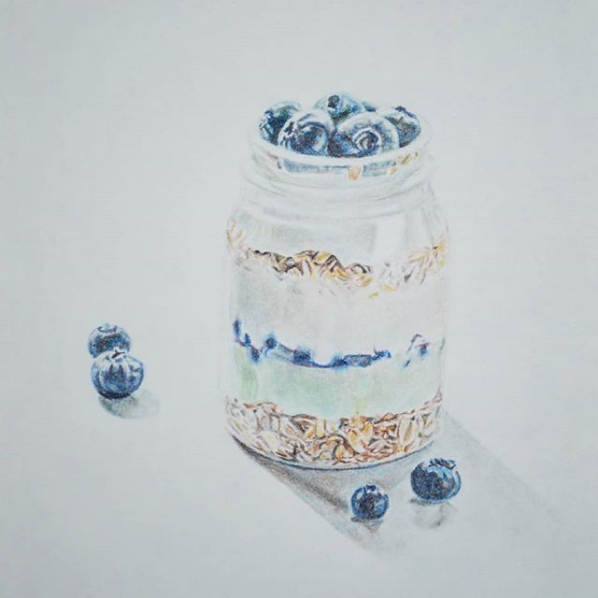 "Screenshot_2019-02-25 Blair O on Instagram ""More food drawings 😅 Chalk pastel on paper ✏"""