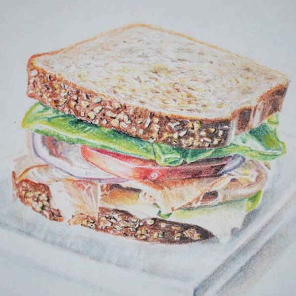 "Screenshot_2019-02-25 Blair O on Instagram ""Sorry if this makes you hungry, I guess ) Chalk pastel on paper ✏"""