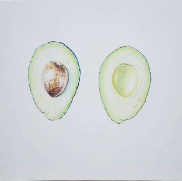 "Screenshot_2019-02-25 Blair O on Instagram ""Well that was fun Chalk pastel pencil drawing ✏ #avocado"""